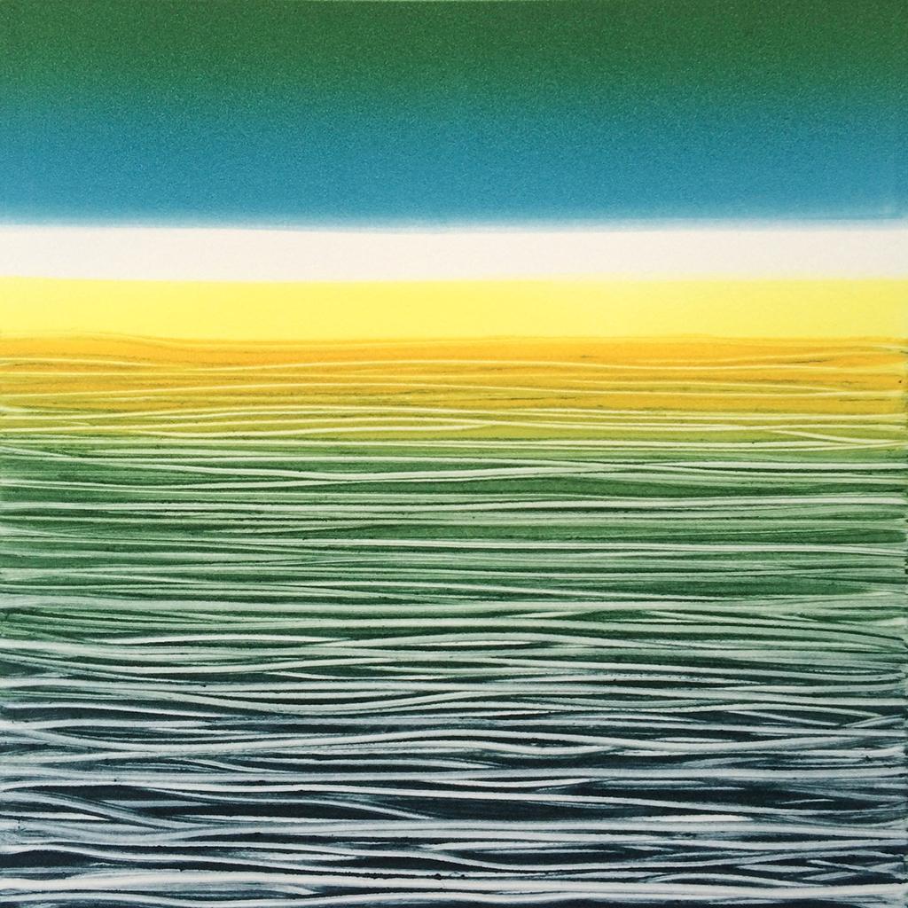 Katherine McDowell, Lake Monotype 270, monotype, 2017