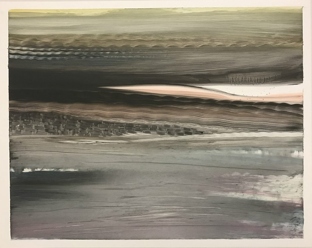 Viktor Witkowski, O.T. (no.28), oil on paper, 2017