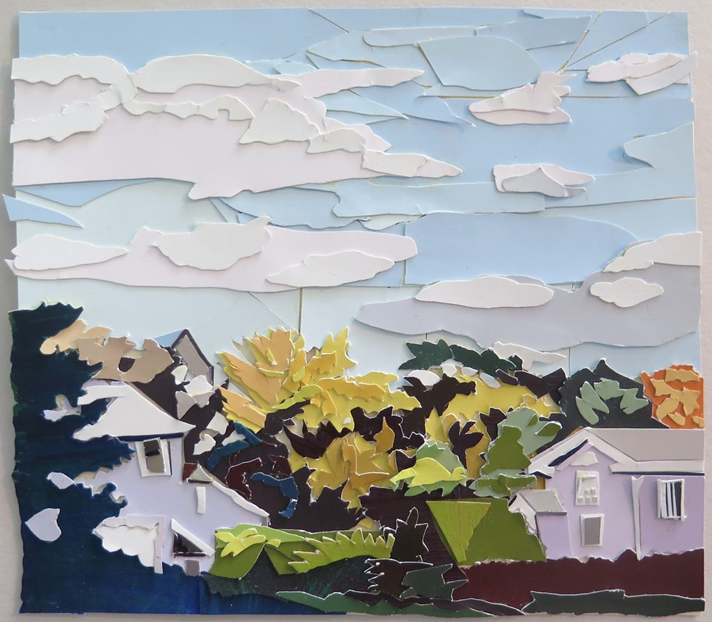 Katie Darby Slater, Autumn (After Fairfield Porter), paper collage, 2017