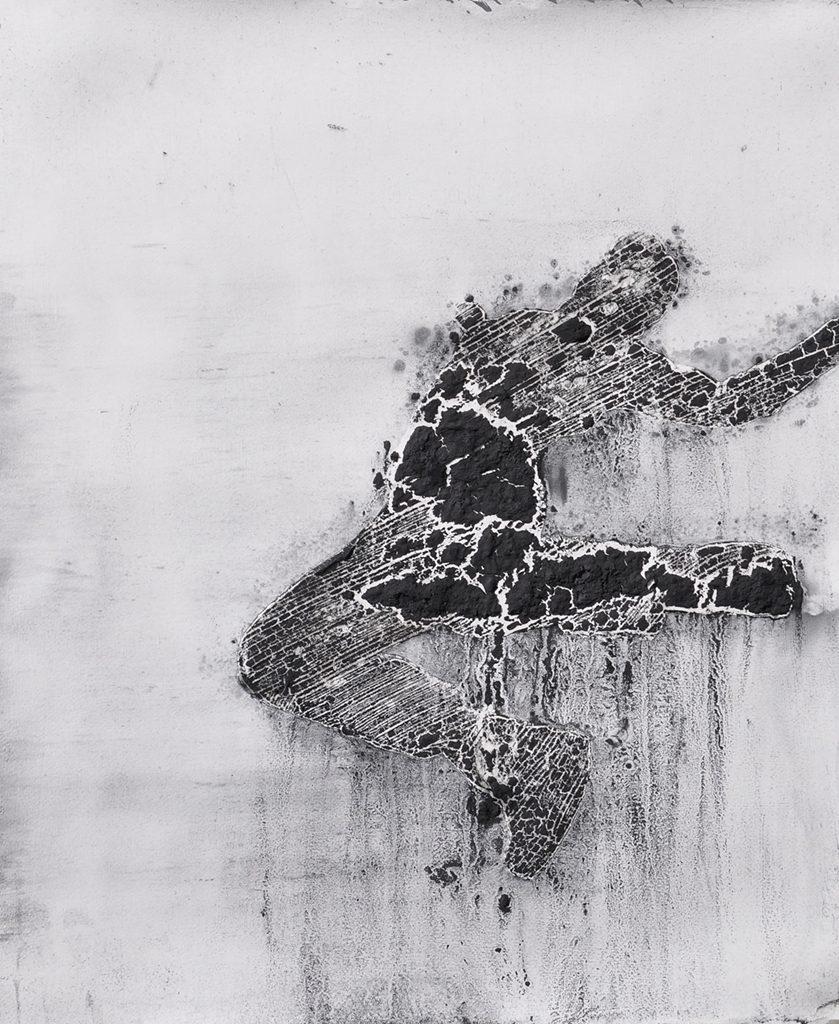 John Sproul, Blackened White 39, Figure Drawing, graphite