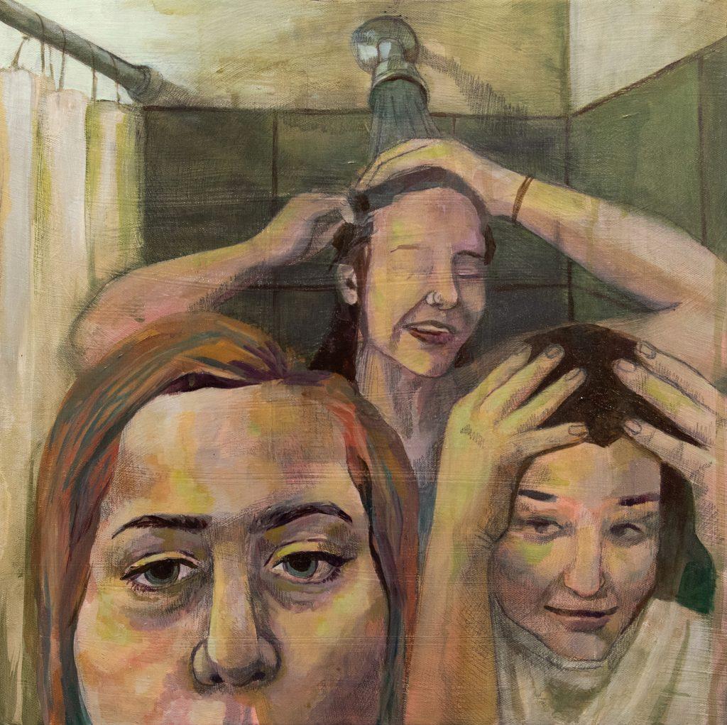 Bathtub Baptism, Jeni Jolley, acrylic