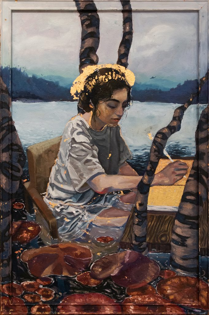 Convergent Peace, Pablo Ayala, oil on corkboard