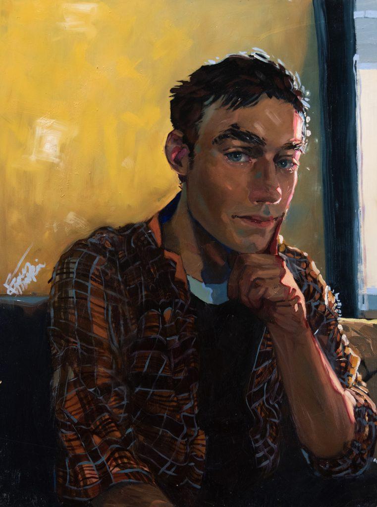 Devon, Pablo Ayala, oil on wood panel
