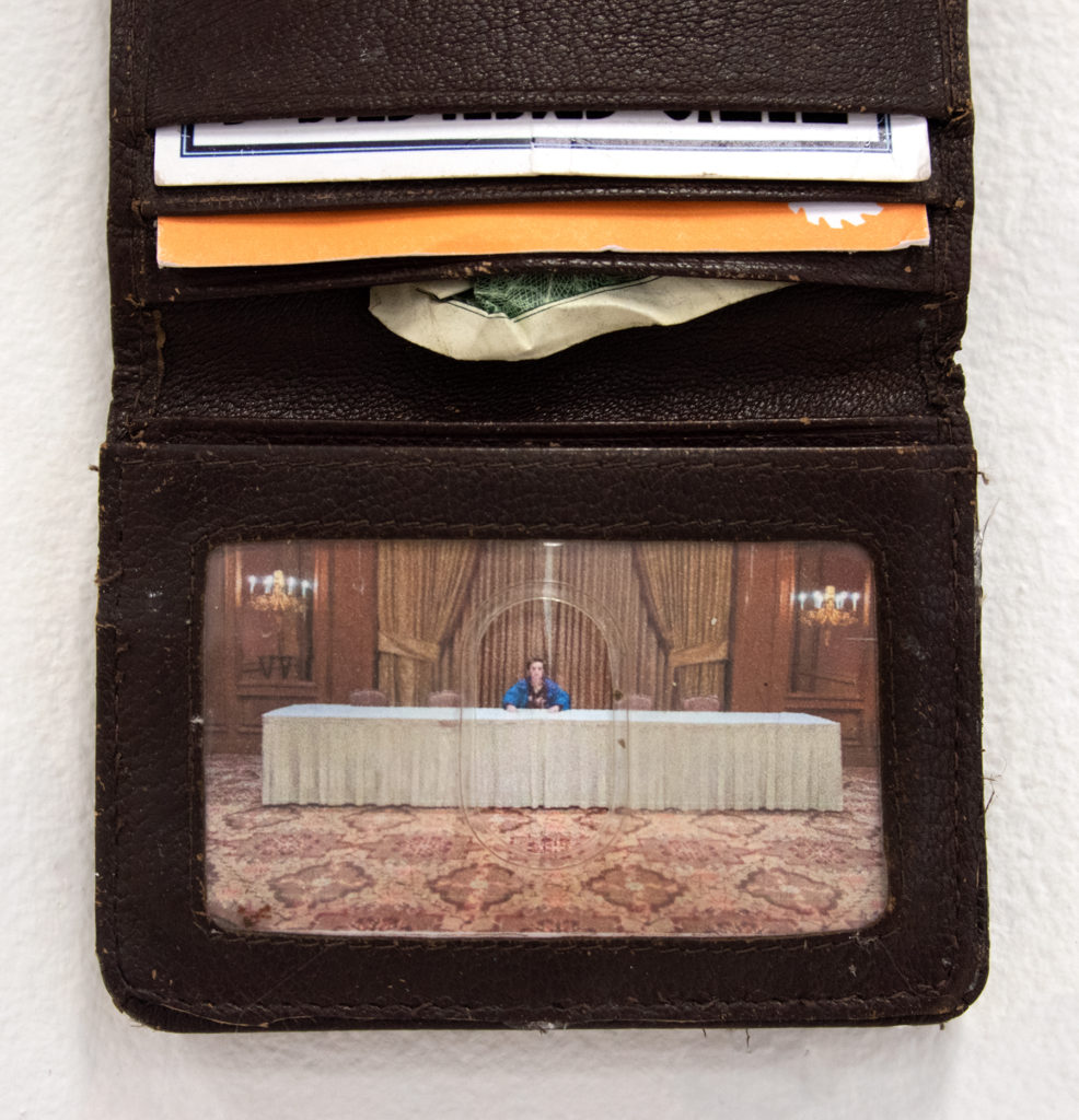 My Own Last Supper - Bea Hurd, wallet, cards, dollar, picture