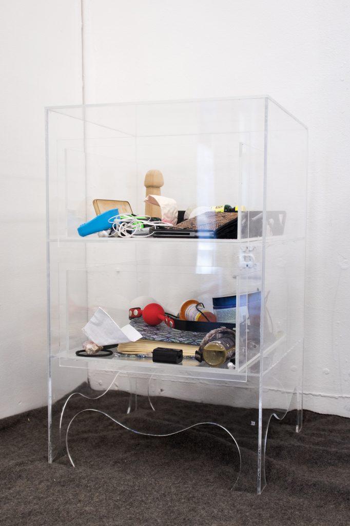 Her Drawer, Her Drawer, Valeria Johansen and Eden Merkley, acrylic, found objects
