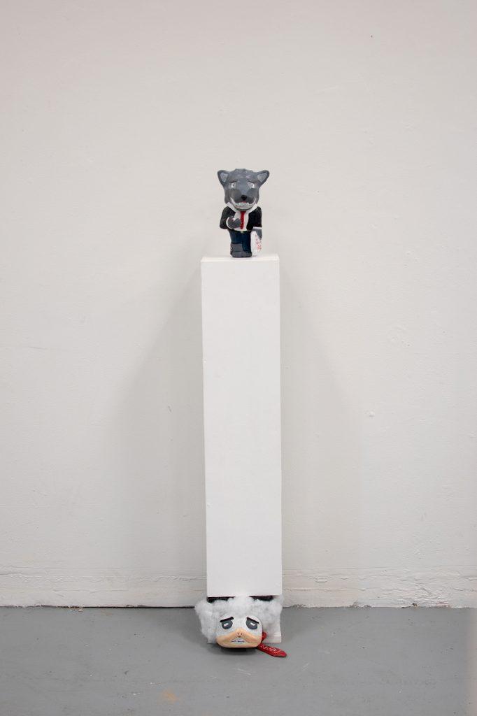 Obelisk of Overlooked Obedience, Ryne Ormond, epoxy, clay, wood
