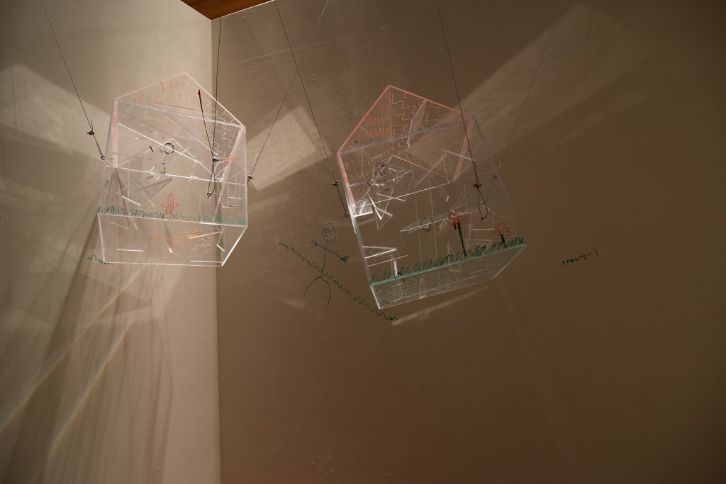 Not Welcomed Home, Ryne Ormond, plexiglass, paint