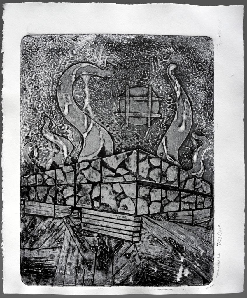 Abyss - Cassandra Webb, ink print on Stonehenge paper
