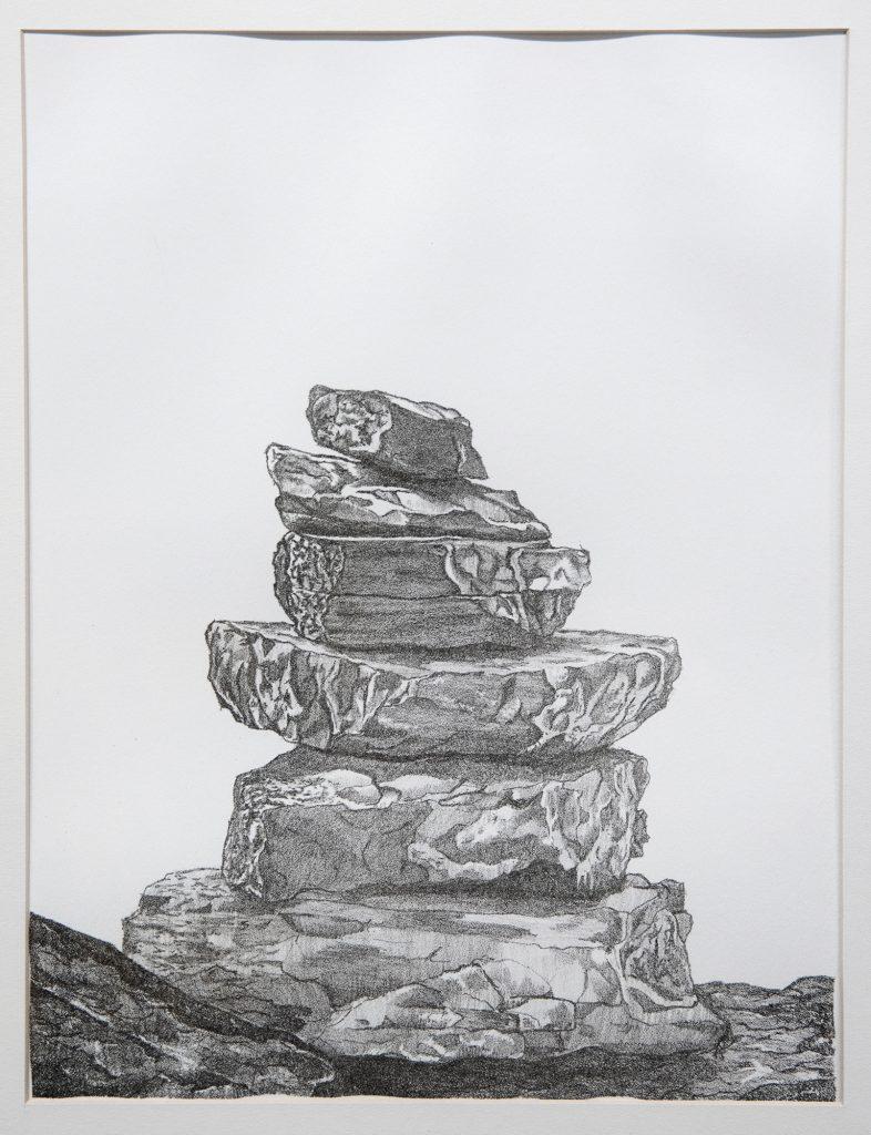 Path, Carlissa Shaw, stone lithograph