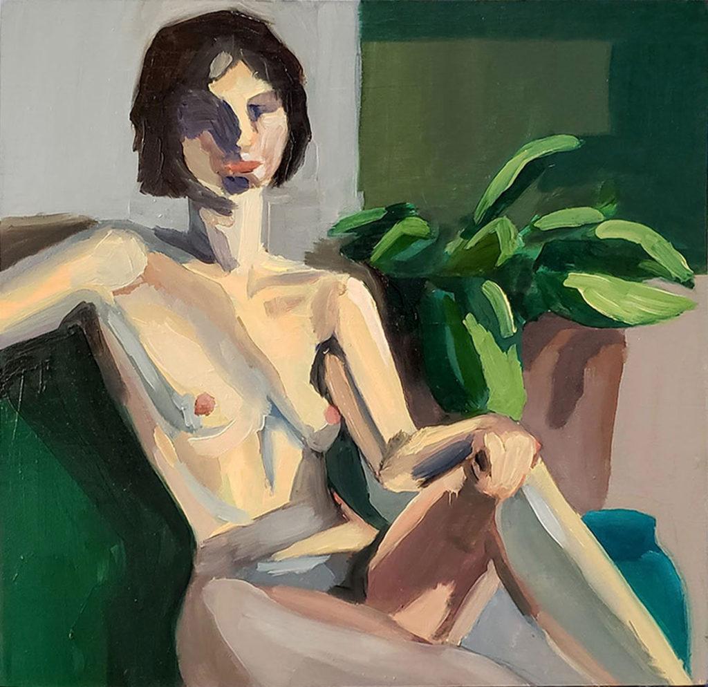 Reclined - Elizabeth Hardy, oil on canvas