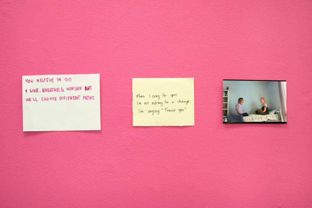 Words I Need to say/the things I couldn't tell you/words I need to hear - Kate Wilhite, installation, photos and artifacts