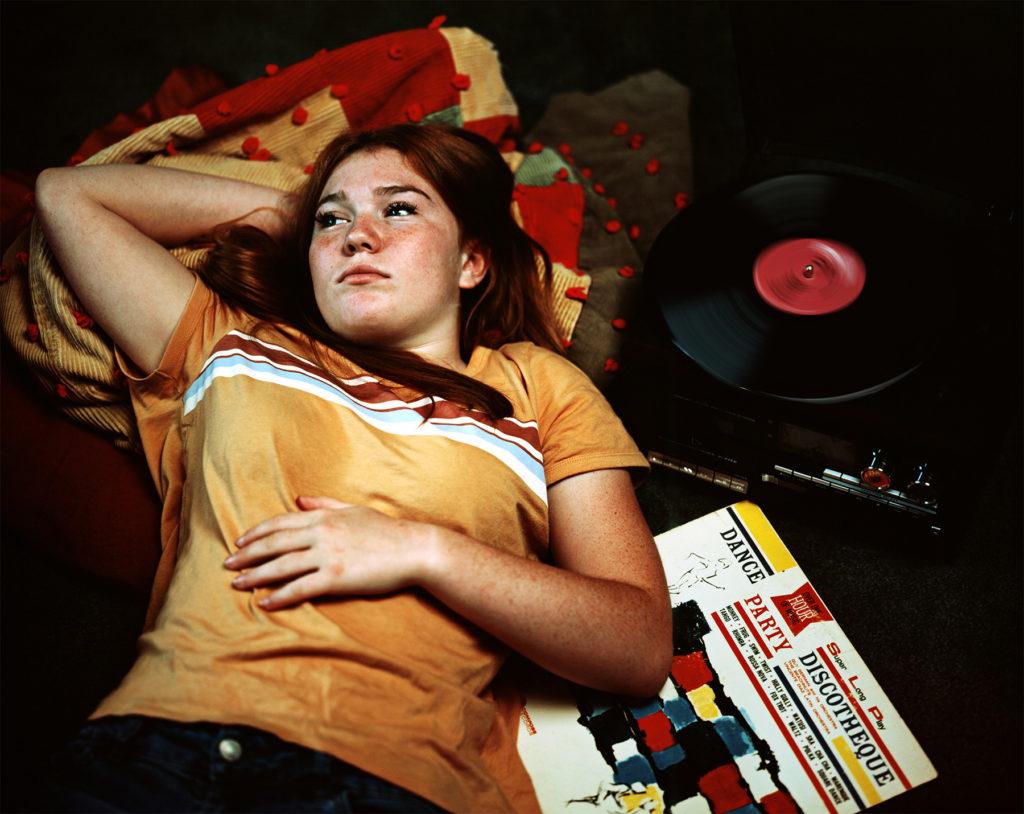 """Waiting in Suburbia - Kristen Bennett, 4 x 6"""" color film"""