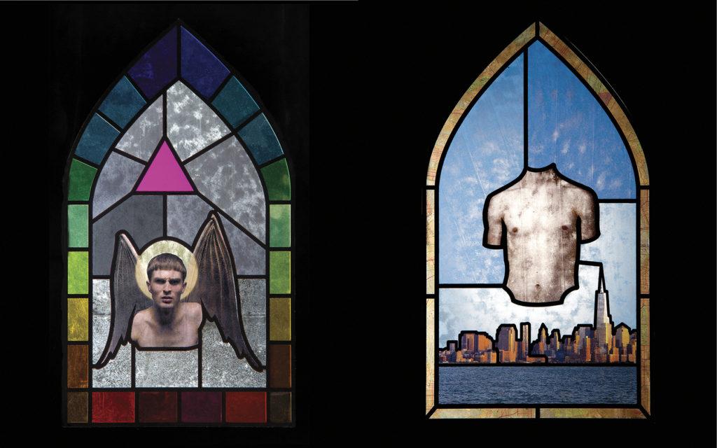 Untitled (Pilgrimage) - Nate Francis, packing tape, printer paper, photo gels, plexiglass, automotive primer
