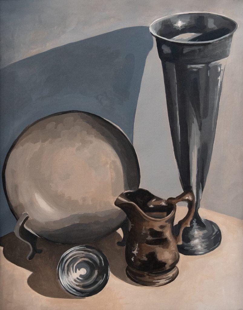 Antique Collection, Sally Logue, acrylic on canvas