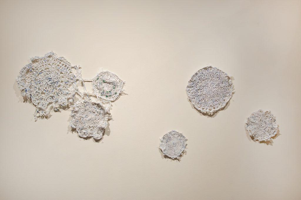 What Remains, Adah Bennion, crocheted plastic Walmart bags