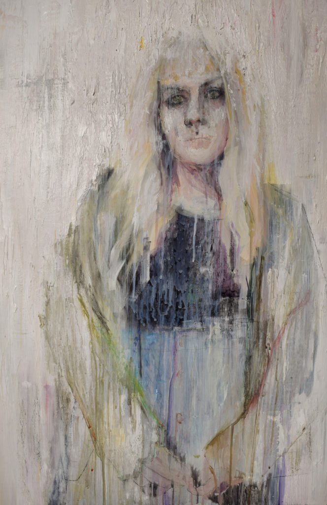 Jenni is Real - Alicia Fae Hadlock, acrylic paint, charcoal, chalk pastels and colored pencils