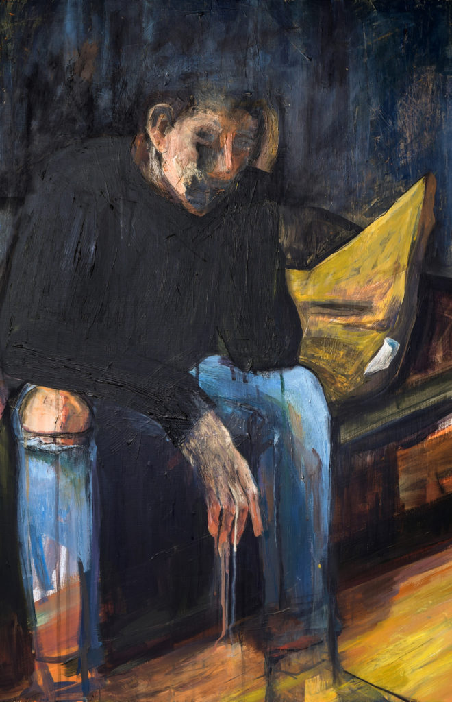 Adulting - Alicia Fae Hadlock, acrylic paint and charcoal