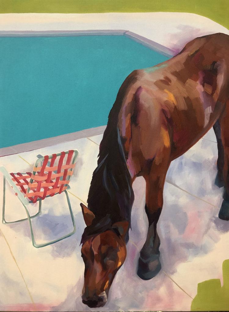"Suburban Cowboy - Kendyl Schofield, oil on canvas, 30"" x 40"""