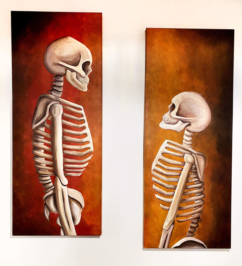 Til Death Do Us Part - Kimberly Andrade, diptych: acrylic painting