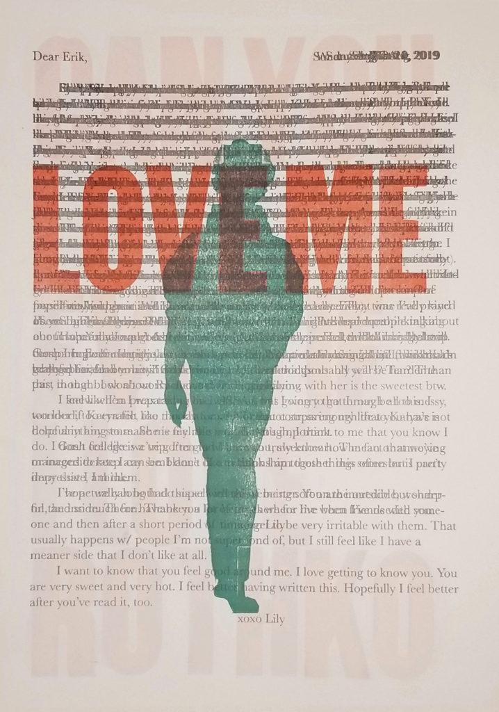 Even if I Love Rothko (Dear Erik) - Lily Ann Ellingson, letterpress print