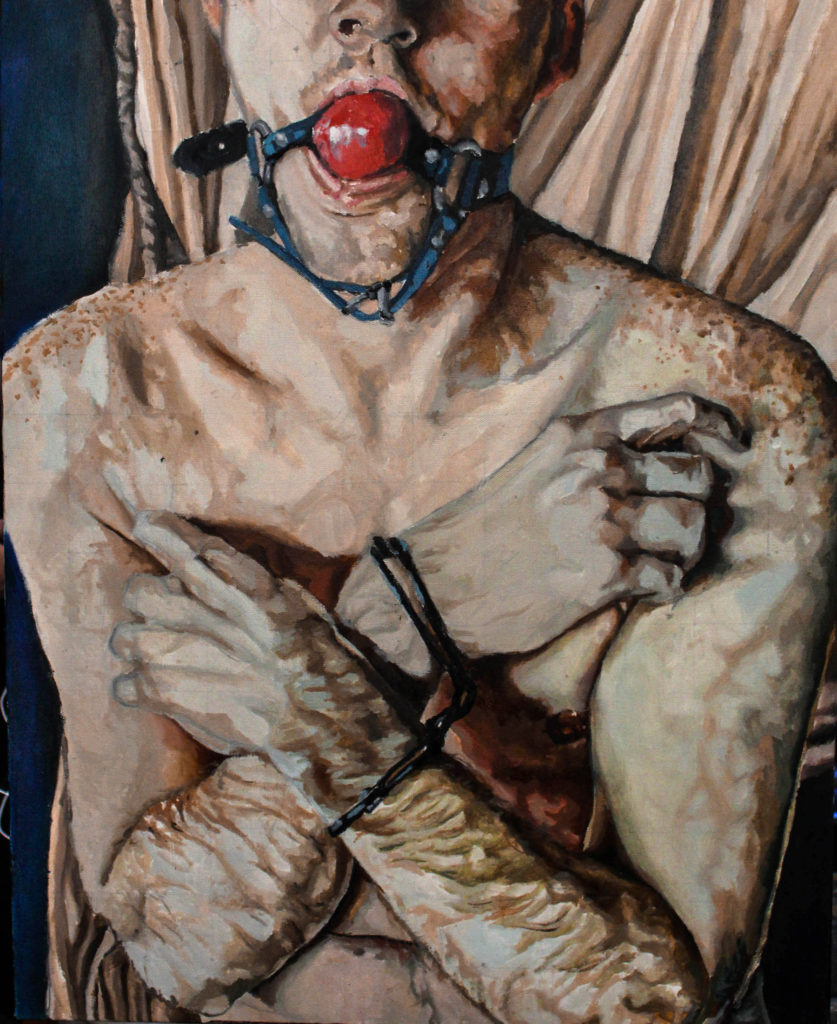 Consensual Trauma - Nelson Morales, oil paint on canvas