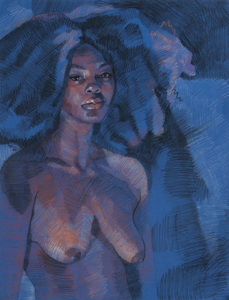 Jan - Susannah Mecham, charcoal and pastel pencil
