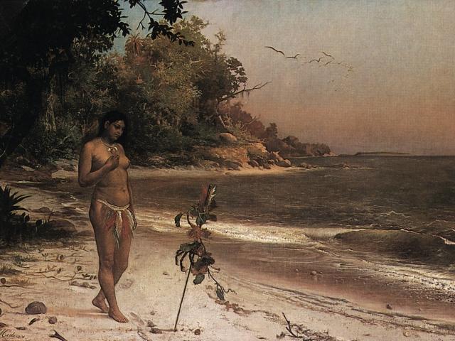 Iracema, Jose Maria de Medeiros, 1881, oil on canvas, 168.3 x 255 cm