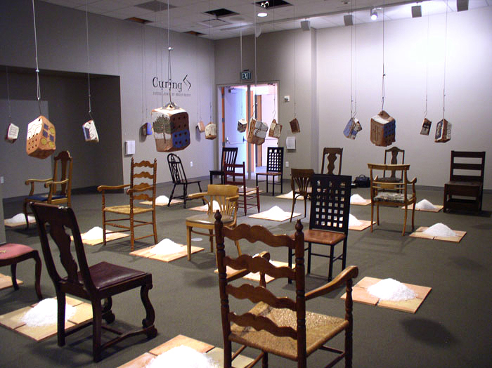 """""""Curing"""" installation view from southeast corner; 2006"""