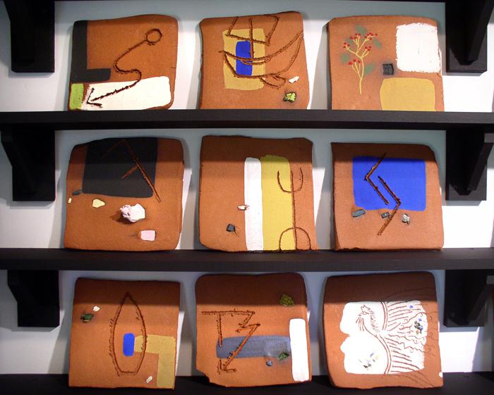 """Present"" installation detail of tiles (2); 2007"