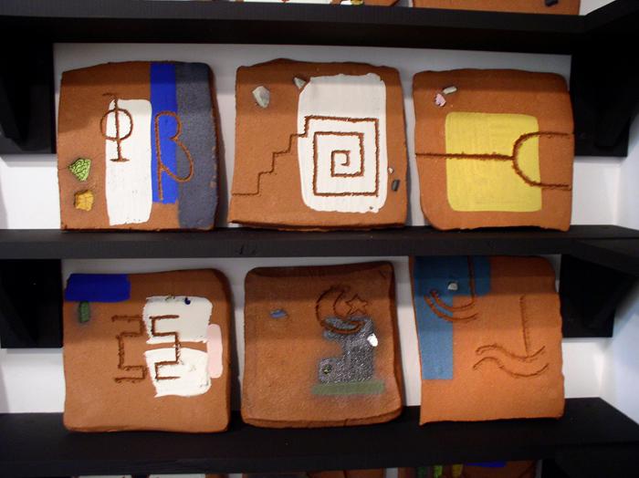 """Present"" installation detail of tiles (1); 2007"