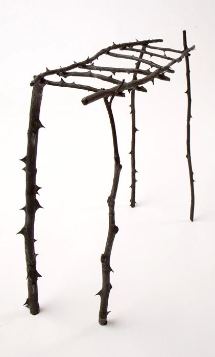Bridge II; Beth Krensky, 2007, bronze, 16 x 17-1/2 x 6
