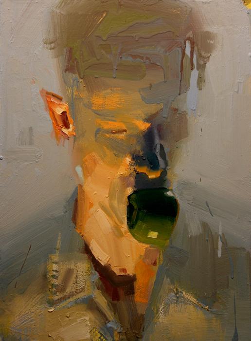 Apple Boy; John Erickson, 2008, oil and latex on masonite, 18 x 24