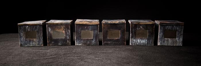 Re-Member; Beth Krensky, 2007, copper, mica, enamel paint, mixed media, (6) each 4 x 4 x 4
