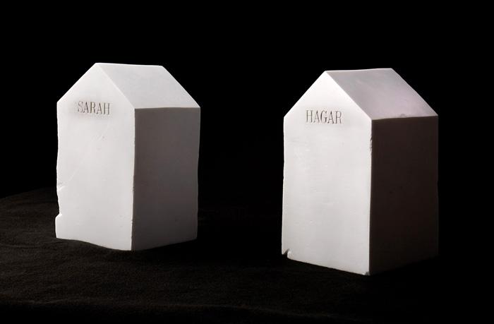 Where Lies the Border Between Us?; Beth Krensky, 2007, marble, (2) each 13 x 7 x 7