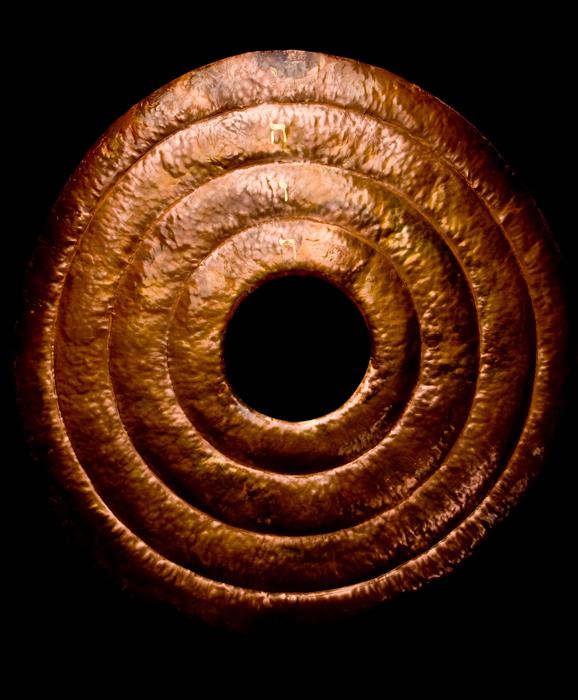 Portal; Beth Krensky, 2005, copper, gold leaf, 36 x 36 x 2