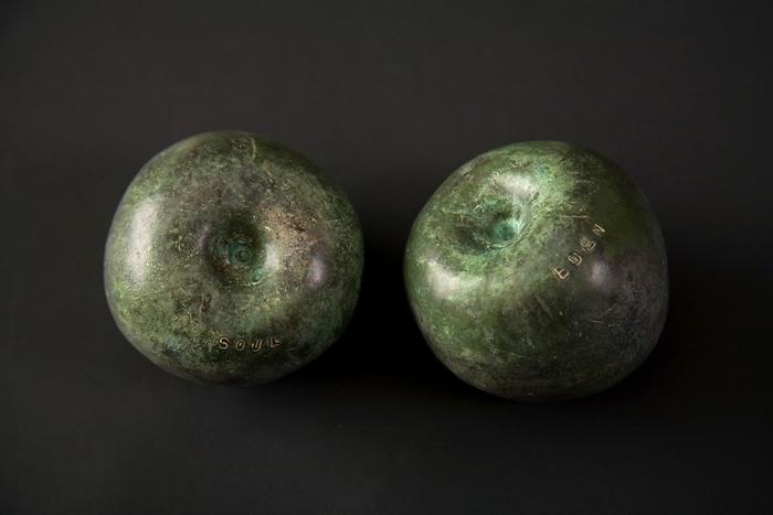 Desire; Beth Krensky, 2005, bronze, pigment, 8 x 3 x 3-1/2