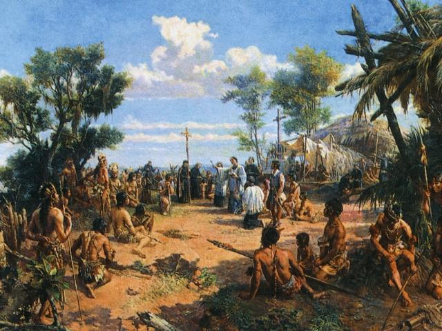 Founding of the City of São Paulo, 1554; Oscar Pereira da Silva, 1903, painting