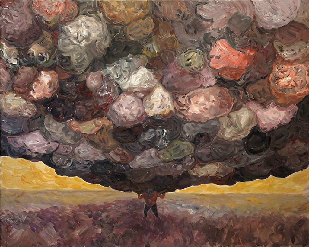 Dung Beetle II, Acrylic on Canvas, 58 x 72 inches, 2017