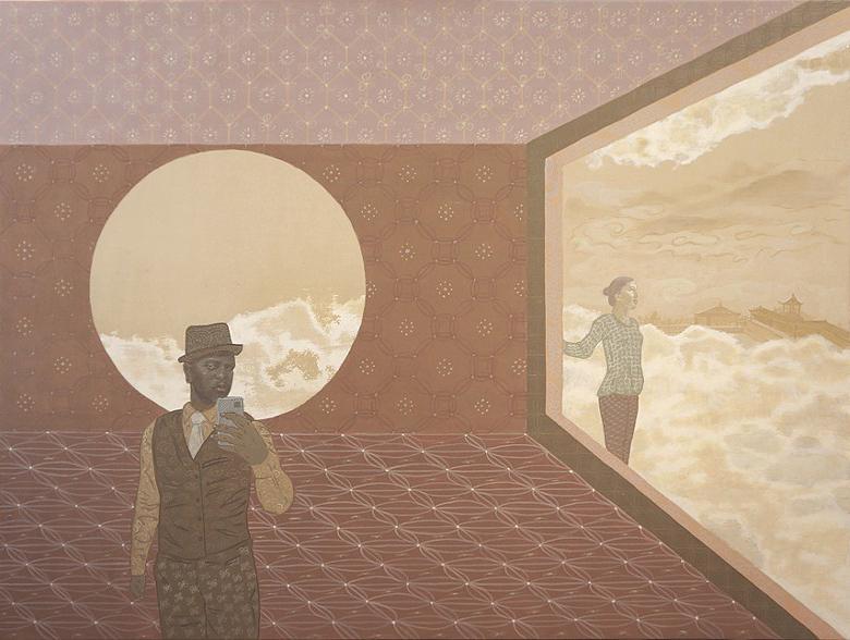 """Acrylic on wood, 18 x 24"""", 2013"""