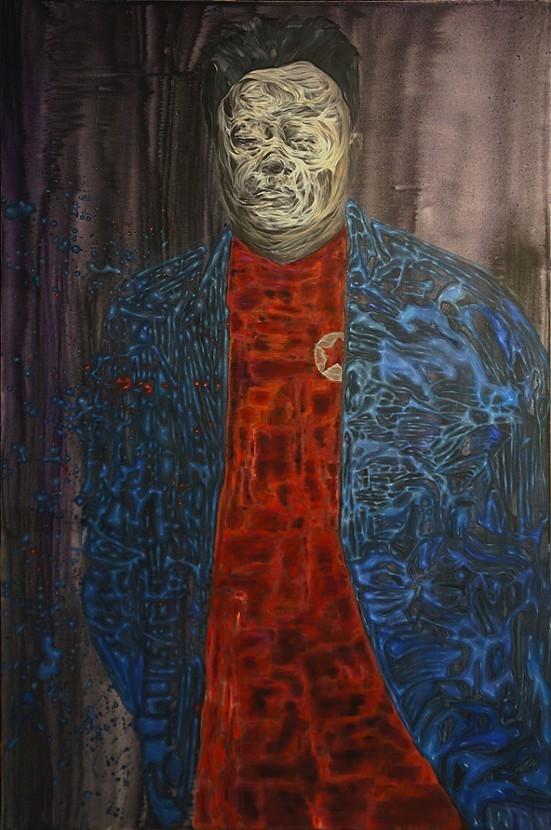 "Kim Jong il's Dorian Gray, 40 x 60"", Acrylic on Canvas, 2013"