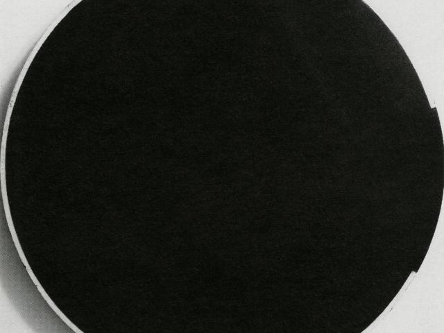 Linear Egg; Lygia Clark, 1958 CE, nitro-cellulose paint on wood, Diam: 33cm; Collection David Medalla, London