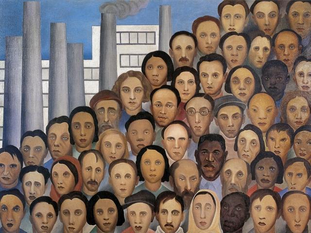 Tarsila Do Amaral. Workers, 1933. Oil on canvas. 150 X 205 cm. Acervo Artistico/cultural dos palacious do governo do estado de sao paulo.