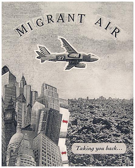 Migrant Air. Photo Polymer Intaglio. 2005.