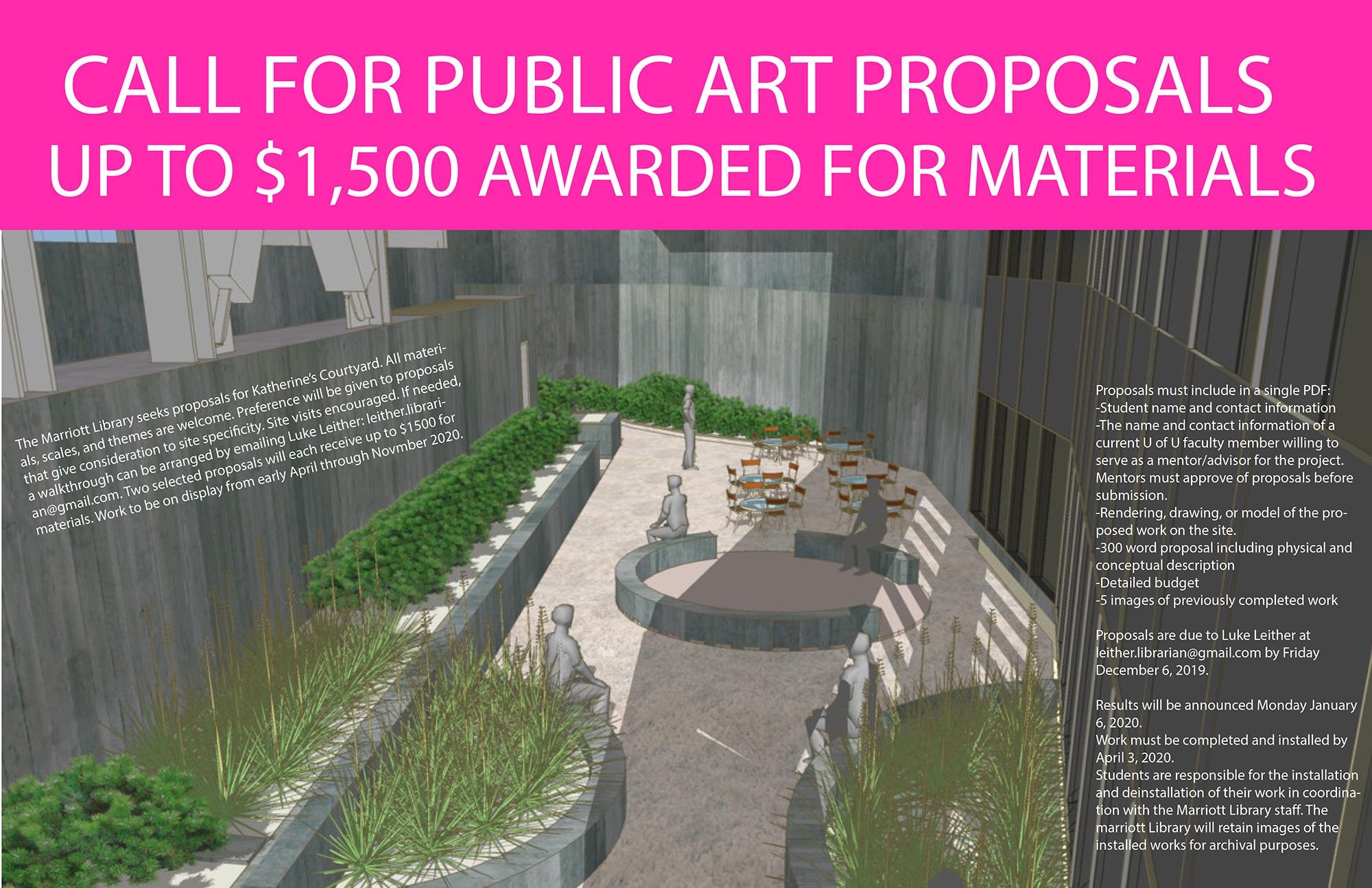 Call for Public Art Proposals Marriott Library