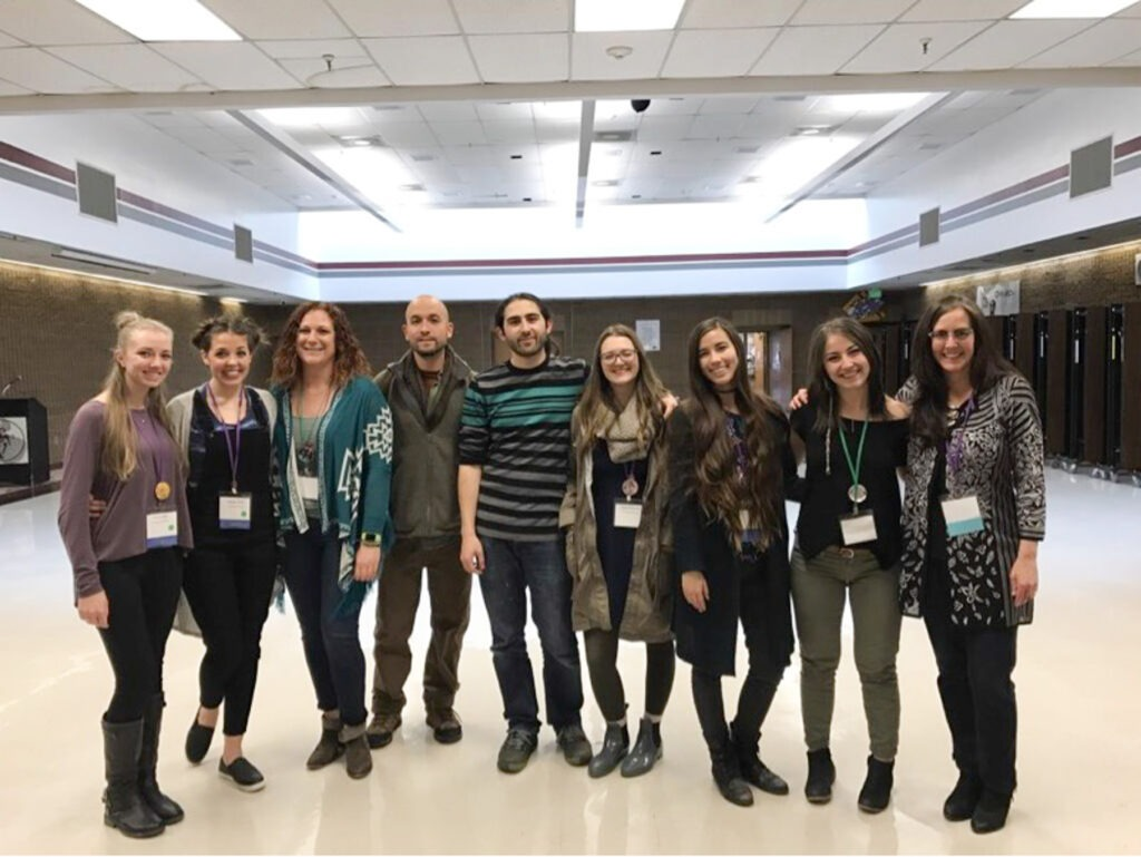 Sandy Brunvand with Students at an Art Education Conference