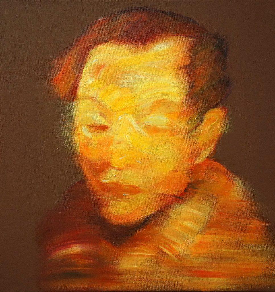 """Acrylic on Canvas, 18 x 18"""", 2013"""