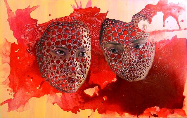 "Mu Feng Lian, 30 x 48"", Acrylic on canvas, 2010"