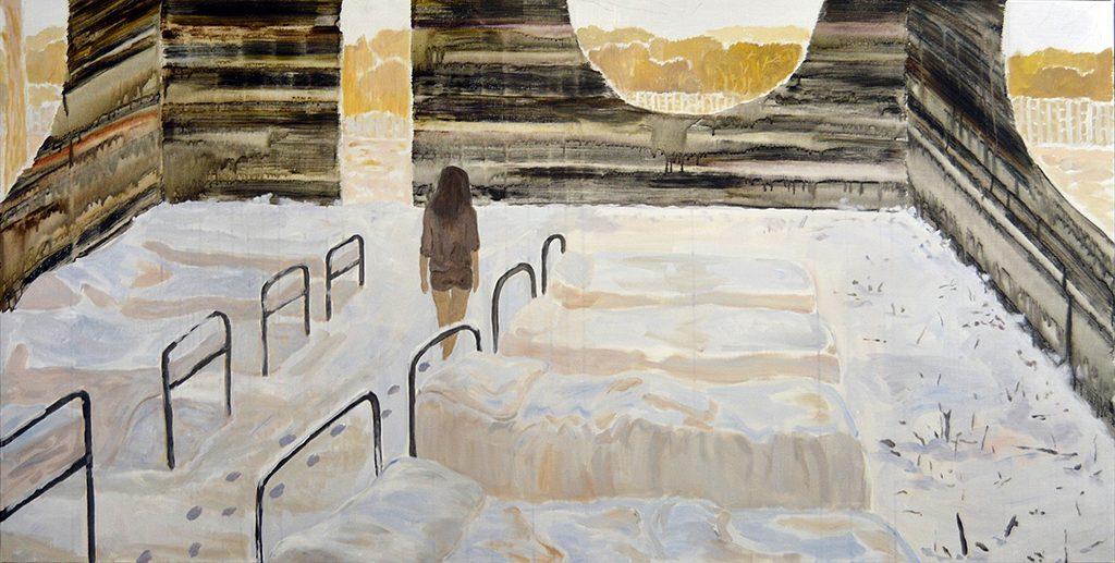 """Room, Acrylic on Canvas, 36 x 72"""", 2015"""