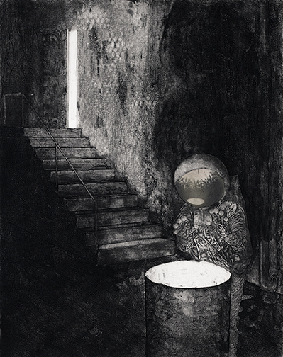Andrew Rice. Print Student. Warming II. Etching. 2011.