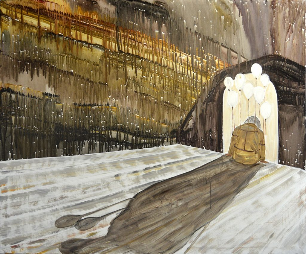 "Shadow, 42 x 50.325"", Acrylic on Canvas, 2016"